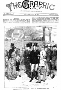The Graphic. June 18, 1870. Chronicling the death of Charles Dickens