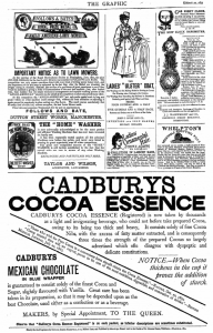 The Graphic 22 March 1873, advertisement for Cadbury's Cocoa