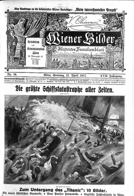 A dramatic sketch of the chaos was published in the Wiener Bilder. Image courtesy of the National Library of Austria.