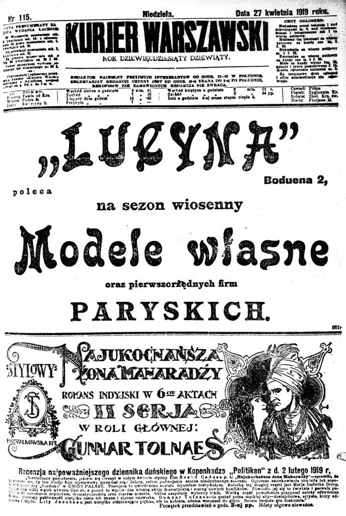 Kurier Warszawski newspaper - National Library of Poland