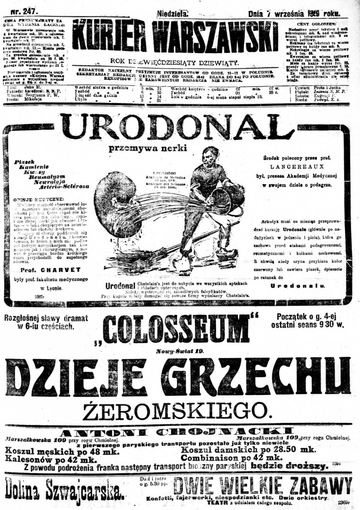 Kurier Warszawski newspaper - National Library of Poland