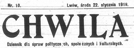 Chwila newspaper  title - National Library of Poland