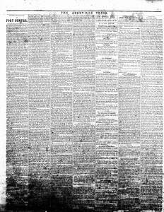Fort Sumter in South Carolina newspaper April 1861