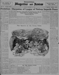 Premature discussion of League of Nations imperils peace