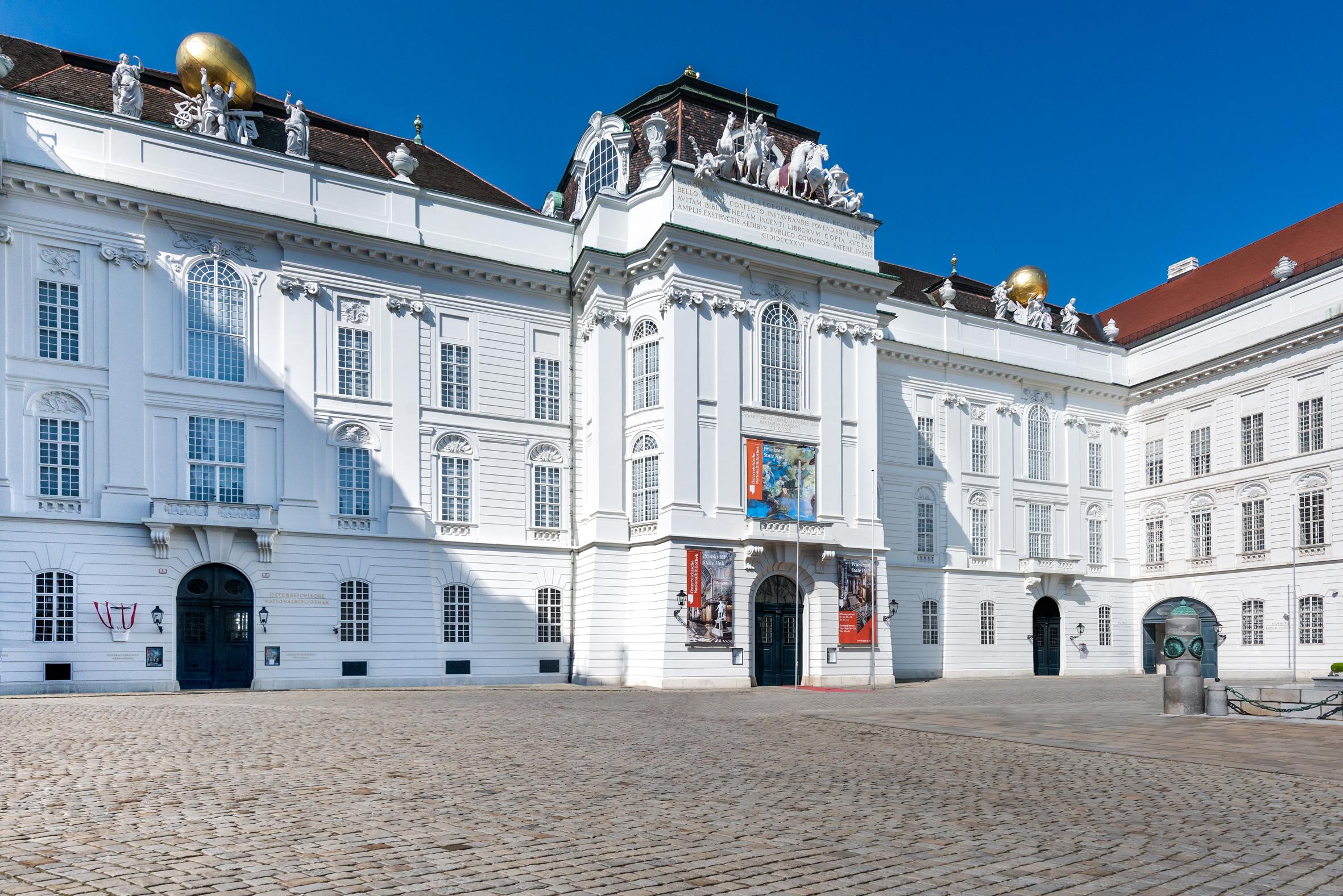 The Austrian National Library seen from Josefsplatz. © Österreichische Nationalbibliothek