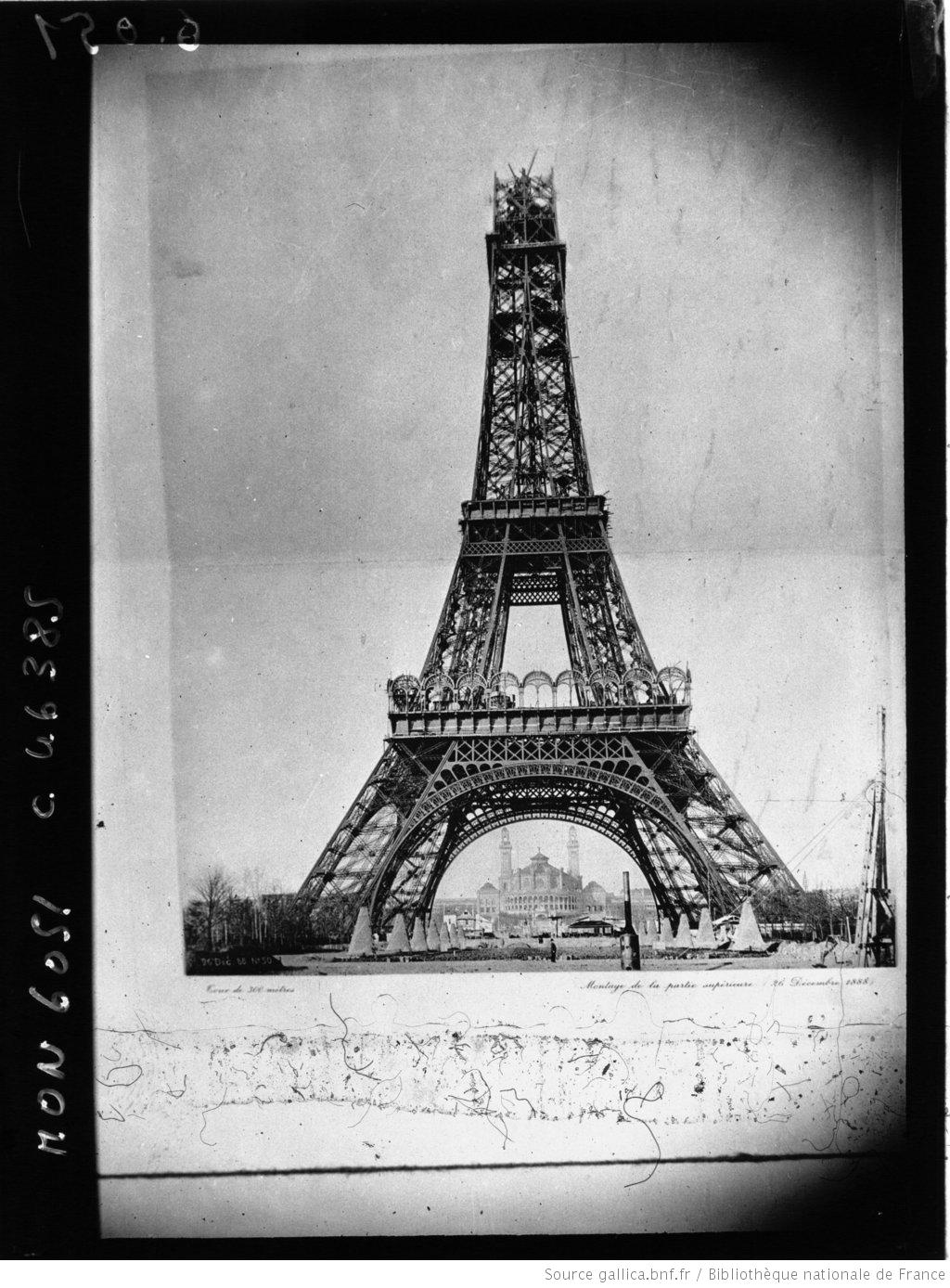 Building Of The Eiffel Tower In Historic Newspapers
