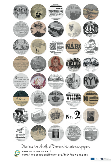 Promotional Poster for Europeana Newspapers