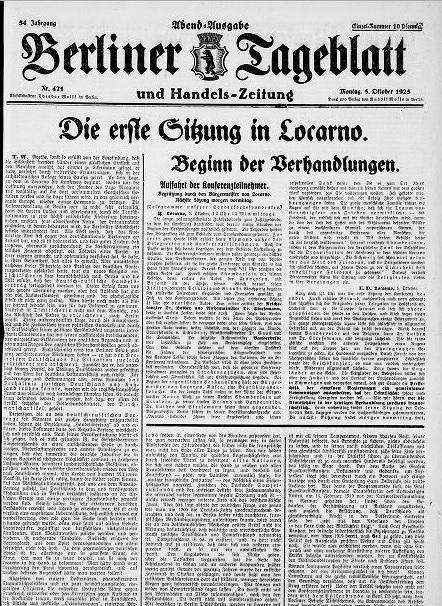 Berliner Tageblatt, 5 Dezember 1925