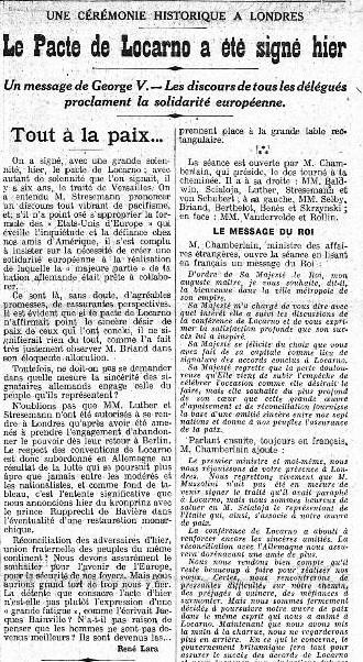 Le Gaulois, 2 December 1925
