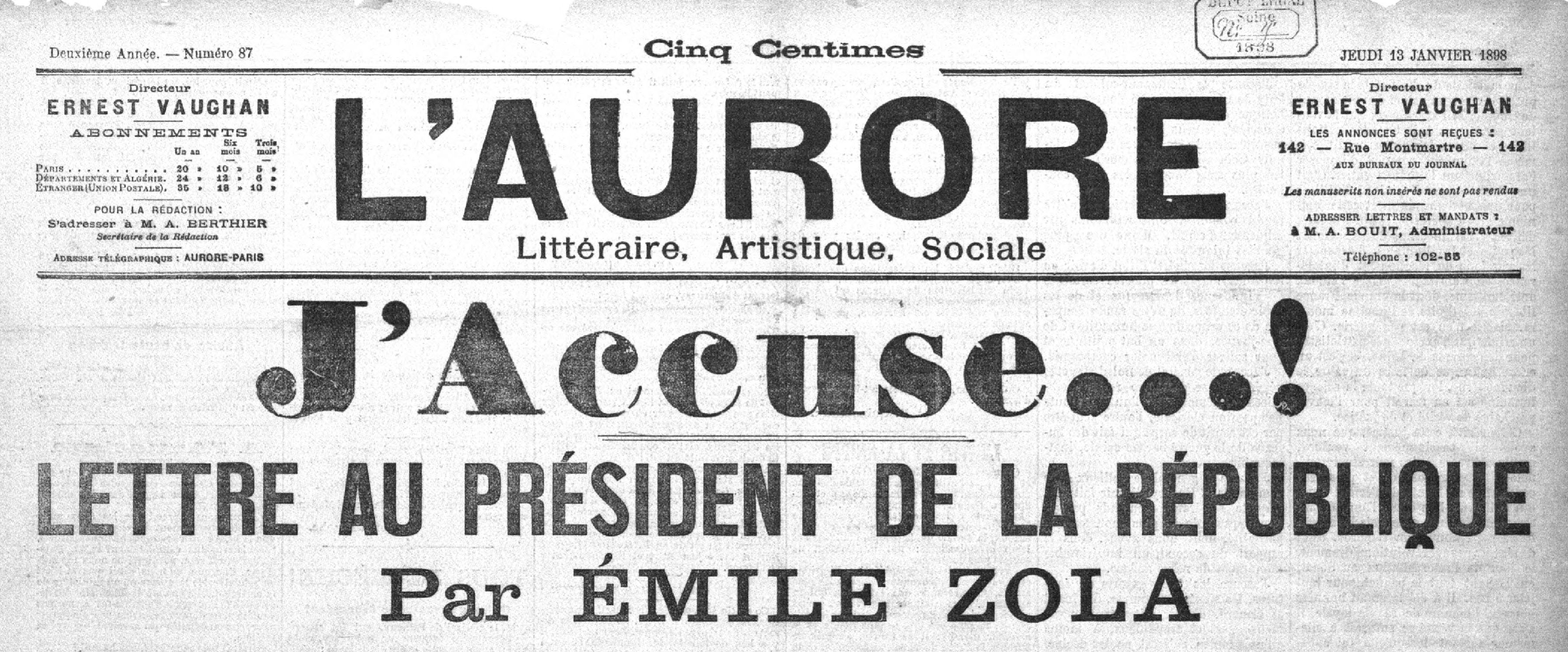 J'accuse: The Dreyfus-Affair in historical newspapers ...